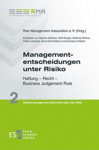 Managemententscheidungen unter Risiko