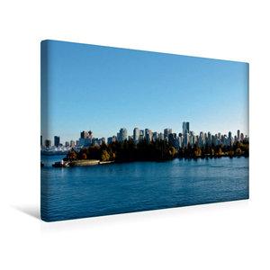 Premium Textil-Leinwand 45 cm x 30 cm quer Skyline Vancouver
