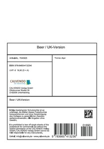 Beer / UK-Version (Stand-Up Mini Poster DIN A5 Portrait)