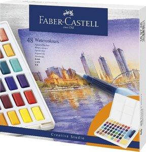 Faber-Castell Aquarellfarben in Näpfchen, 48er Etui