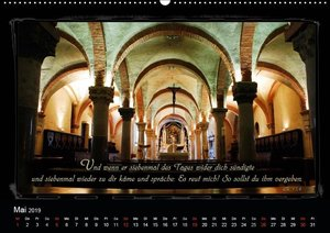 Monat für Monat ein Bibelvers (Wandkalender 2019 DIN A2 quer)