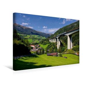 Premium Textil-Leinwand 45 cm x 30 cm quer Brennerautobahn