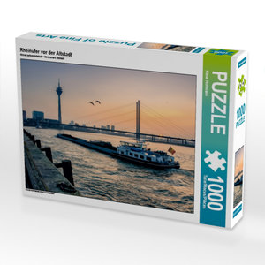 Rheinufer vor der Altstadt 1000 Teile Puzzle quer