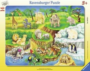 Zoobesuch. Rahmenpuzzle 14 Teile