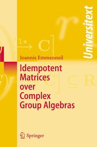 Idempotent Matrices over Complex Group Algebras