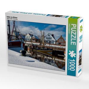 Hafen im Winter 1000 Teile Puzzle quer