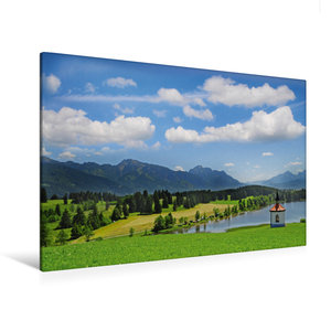 Premium Textil-Leinwand 120 cm x 80 cm quer Im Allgäu