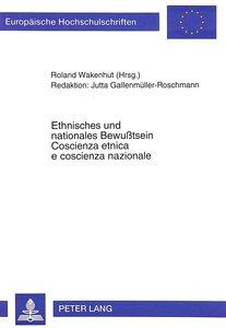 Ethnisches und nationales Bewußtsein- Coscienza etnica e coscien