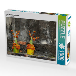 Laos, Blumenschmuck 1000 Teile Puzzle quer