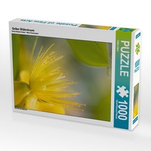Gelber Blütentraum 1000 Teile Puzzle hoch