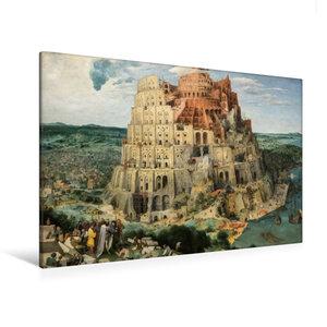 Premium Textil-Leinwand 120 cm x 80 cm quer Turmbau zu Babel - 1