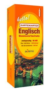 Karteikartenbox Basiswortschatz Englisch Niveau A1