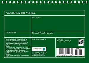 Kunstvolle Tore alter Weingüter (Tischkalender 2019 DIN A5 quer)