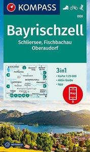 KOMPASS Wanderkarte Bayrischzell, Schliersee, Fischbachau, Obera
