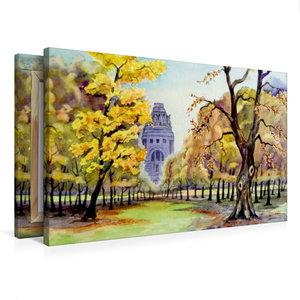 Premium Textil-Leinwand 75 cm x 50 cm quer Herbst am Völkerschla