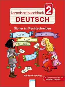 Lernabenteuerblock Klasse 2 Deutsch. Auf der Ritterburg