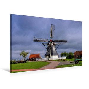 Premium Textil-Leinwand 75 cm x 50 cm quer Werdumer Mühle