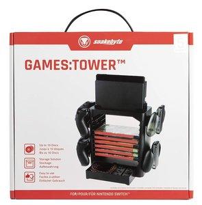 snakebyte GAMES:TOWER für Nintendo Switch - Aufbewahrung und Hal
