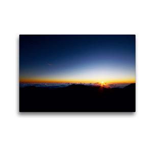 Premium Textil-Leinwand 45 cm x 30 cm quer Haleakala Sunrise