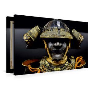 Premium Textil-Leinwand 90 cm x 60 cm quer Samurai