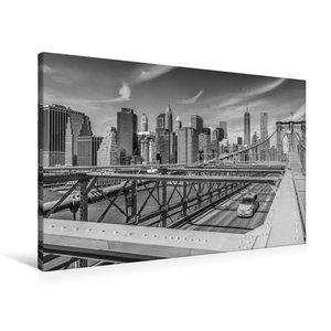 Premium Textil-Leinwand 90 cm x 60 cm quer BROOKLYN BRIDGE Blick