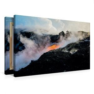 Premium Textil-Leinwand 75 cm x 50 cm quer Lava erreicht den Paz