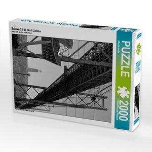 Brücke 25 de abril Lisboa 2000 Teile Puzzle hoch