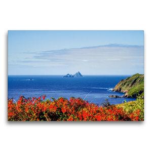 Premium Textil-Leinwand 75 cm x 50 cm quer Skellig Rocks, Irland