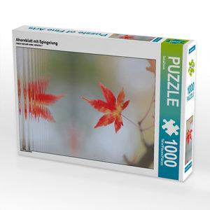 Ahornblatt mit Spiegelung 1000 Teile Puzzle hoch