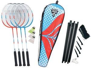 Talbot Torro 449408 - Badminton-Set Premium 4-Fighter, 4 Alu-Sch