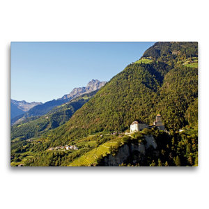 Premium Textil-Leinwand 75 cm x 50 cm quer Schloss Tirol