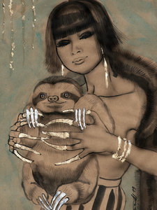 CALVENDO Puzzle Ming with sloth 1000 Teile Lege-Größe 48 x 64 cm