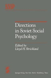Directions in Soviet Social Psychology