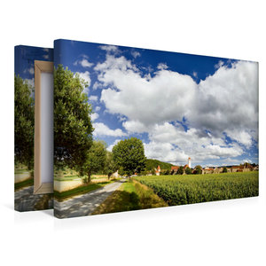 Premium Textil-Leinwand 45 cm x 30 cm quer Dollnstein im Altmühl