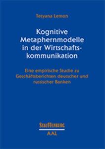 Kognitive Metaphernmodelle in der Wirtschaftskommunikation