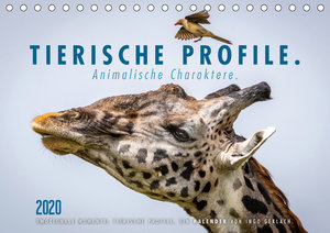 Tierische Profile (Tischkalender 2020 DIN A5 quer)