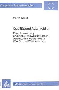 Qualität und Automobile