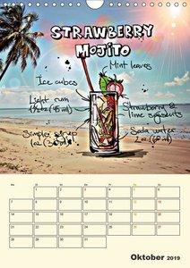 Coole Cocktails für heiße Feten (Wandkalender 2019 DIN A4 hoch)