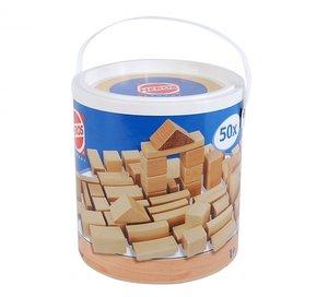 Heros 100050131 - Natur Holzbausteine, 50 Stück