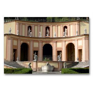 Premium Textil-Leinwand 90 cm x 60 cm quer Villa Betoni