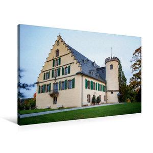 Premium Textil-Leinwand 90 cm x 60 cm quer Schloss Rosenau
