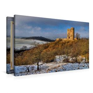 Premium Textil-Leinwand 90 cm x 60 cm quer Burgruine Arnstein