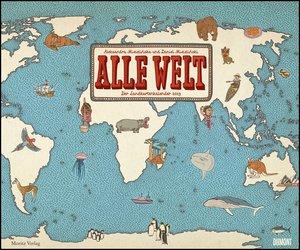 Alle Welt 2019 - Landkarten-Kalender