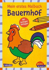 VE5 Mein erstes Malbuch mit farbigen Vorlagen: Bauernhof