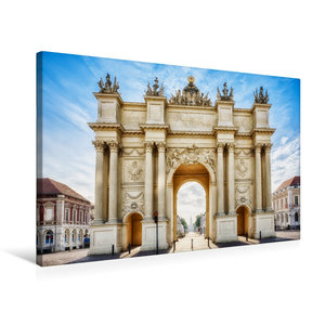 Premium Textil-Leinwand 75 cm x 50 cm quer Brandenburger Tor in