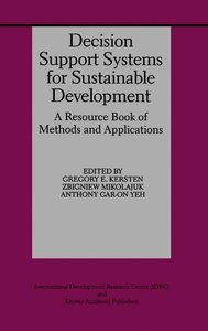 Decision Support Systems for Sustainable Development