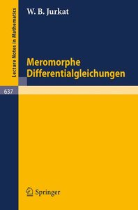 Meromorphe Differentialgleichungen