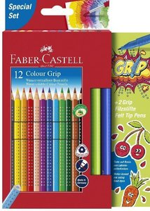 Faber-Castell Promoetui Colour Grip + 2Grip Filzstifte