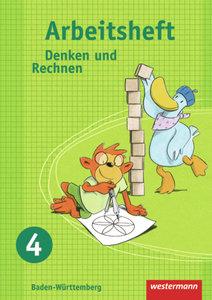 Denken und Rechnen 4. Arbeitsheft. Grundschule. Baden-Württember