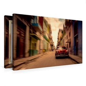 Premium Textil-Leinwand 75 cm x 50 cm quer Havanna